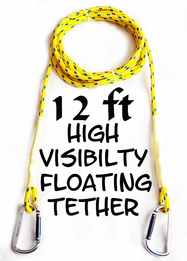 12 ft. High Visibility Floating Kayak Tether Leash