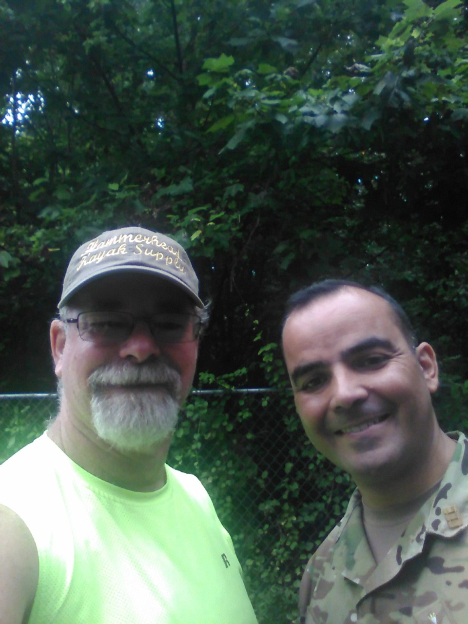 Lieutenant Colonel Enrique Soto and Me After Delivering Kayaks