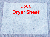Used Dryer Sheet