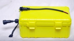 Complete Kayak Battery Kit Including Lead for Fish Finder Power Cable