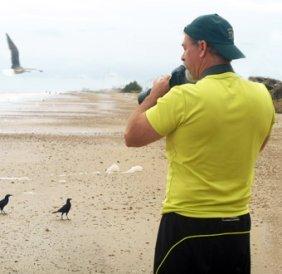 Russ James Photographing Wildlife on the Texas Gulf Coast