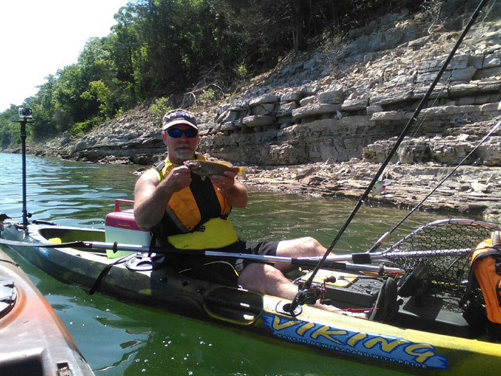 Lake Norfork Smallmouth Bass from a Viking Reload kayak