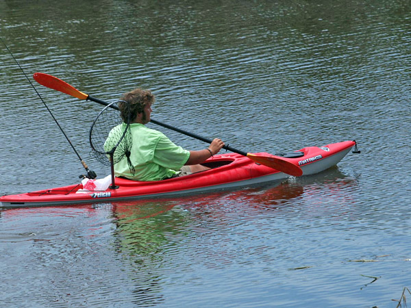 Kayak Angler in the Sabine River Basin