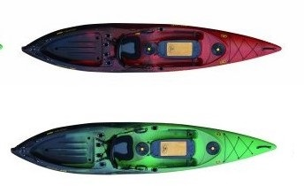 Viking Profish 400 Kayak in Lava and Kiwi Colors