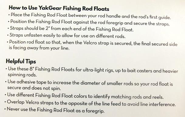 Rod Float Instructions