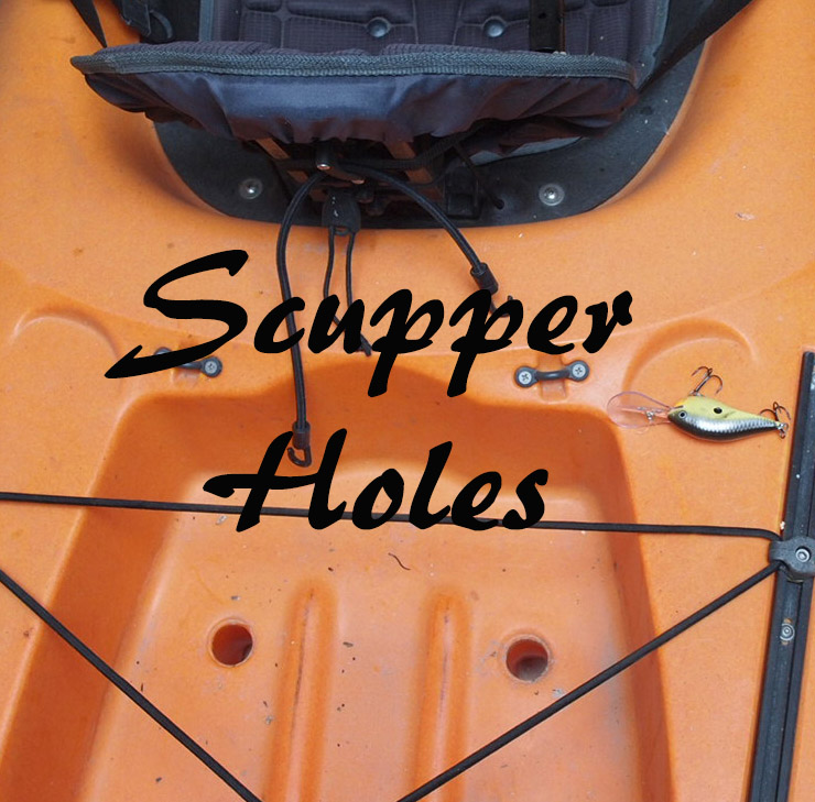 Scupper Holes Behind the Kayak Seat