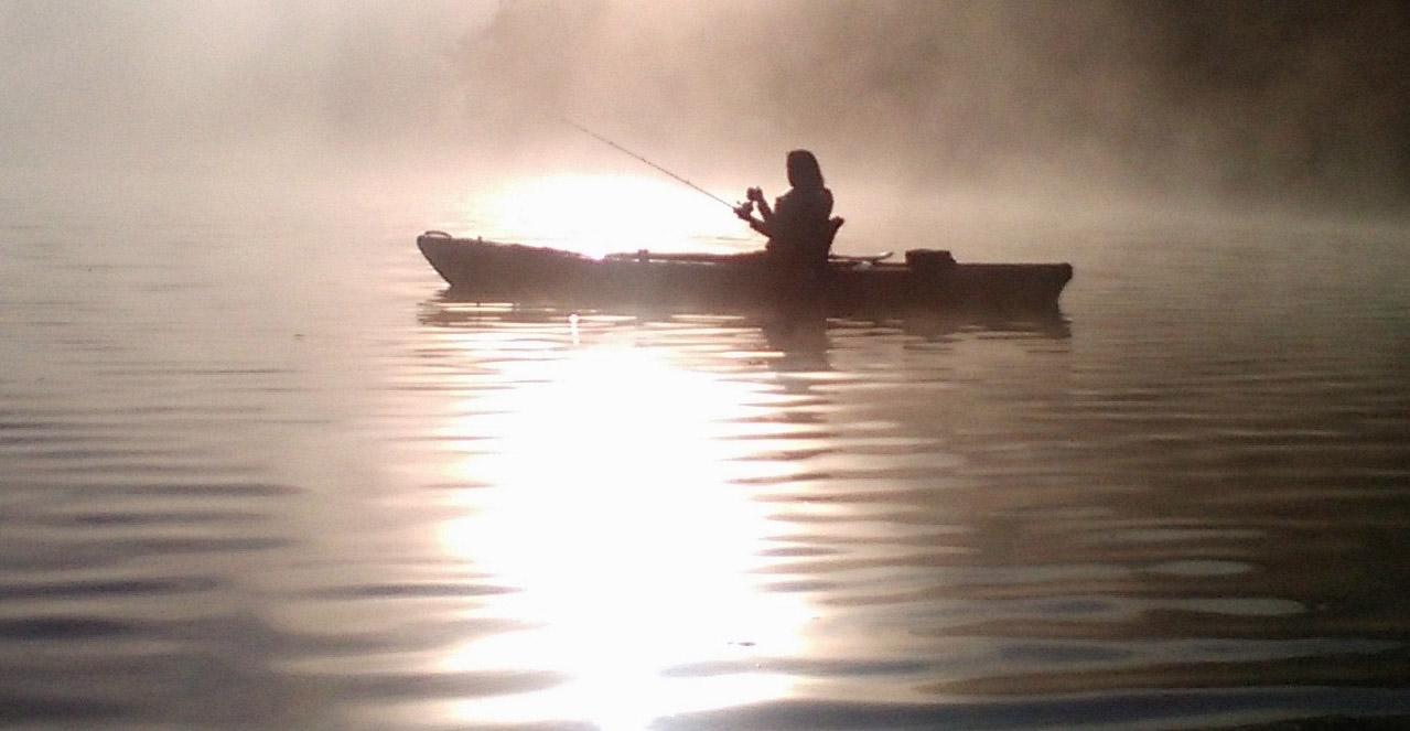 Norfork Lake on a Foggy Morning
