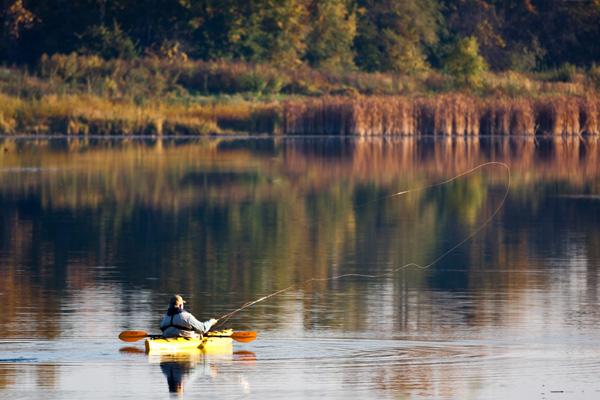 Fly Fishing Mountain Lake