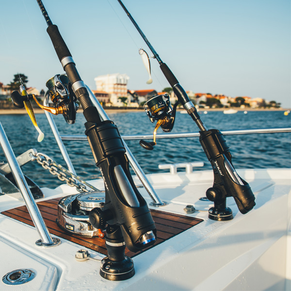 Railblaza Rod Holder II with Round Starport Base