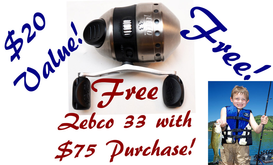 Free Zebco 33 Offer